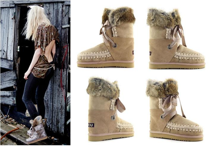 Botas Mou online Lace and fur