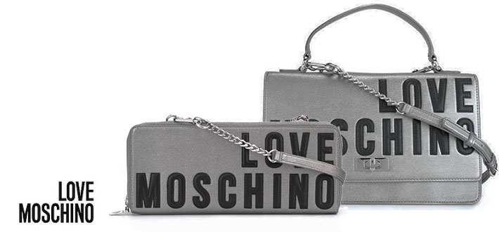 Cartera de mano Love Moschino piel metalizada