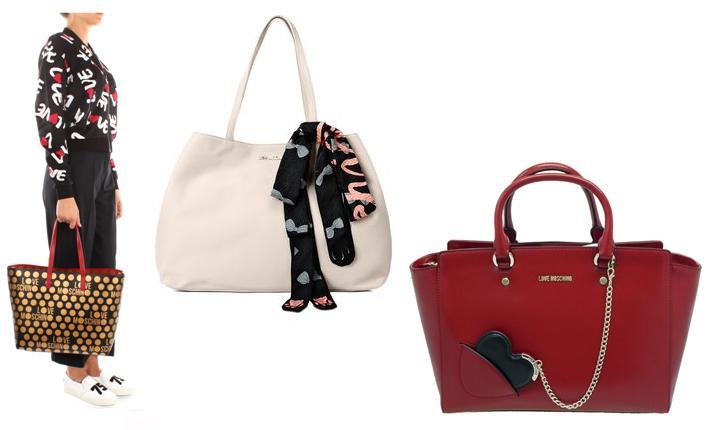 Complementos de invierno de mujer bolsos Love Moschino