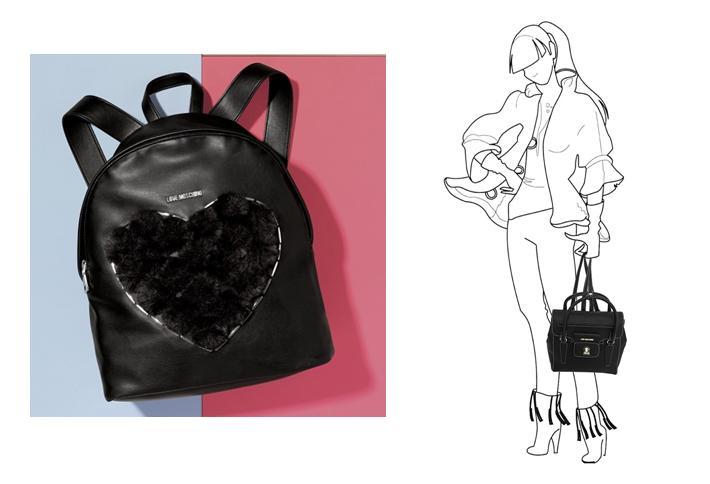 Complementos de invierno de mujer mochilas Love Moschino