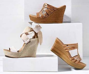sandalias color cuero de mujer