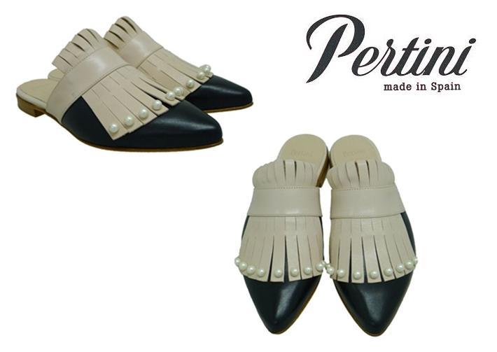 Zapatos con perlas mules Pertini