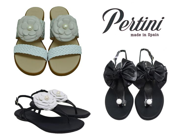 Zapatos con perlas sandalias Pertini