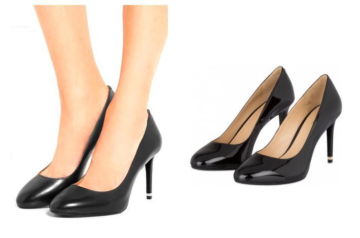 Zapatos tacón punta redonda