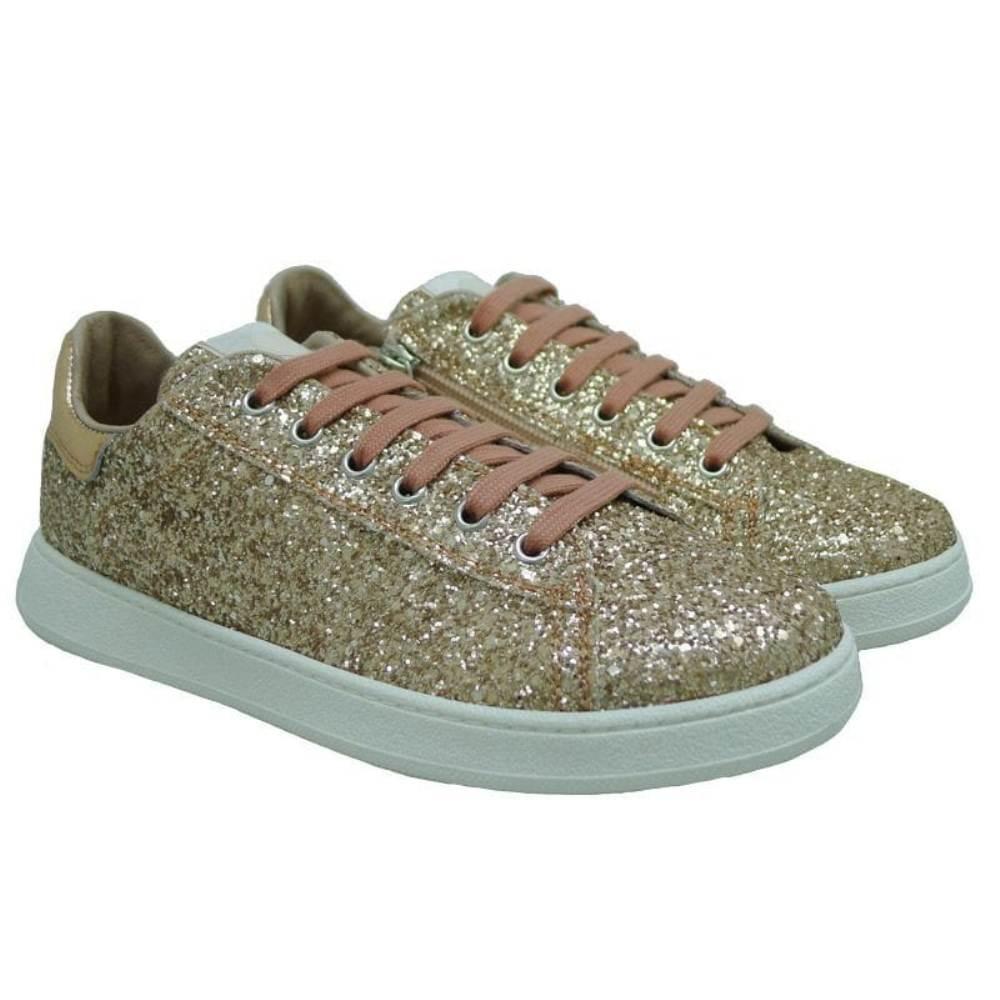 Sneakers cremallera brillantina mujer Twin Set HS78EE