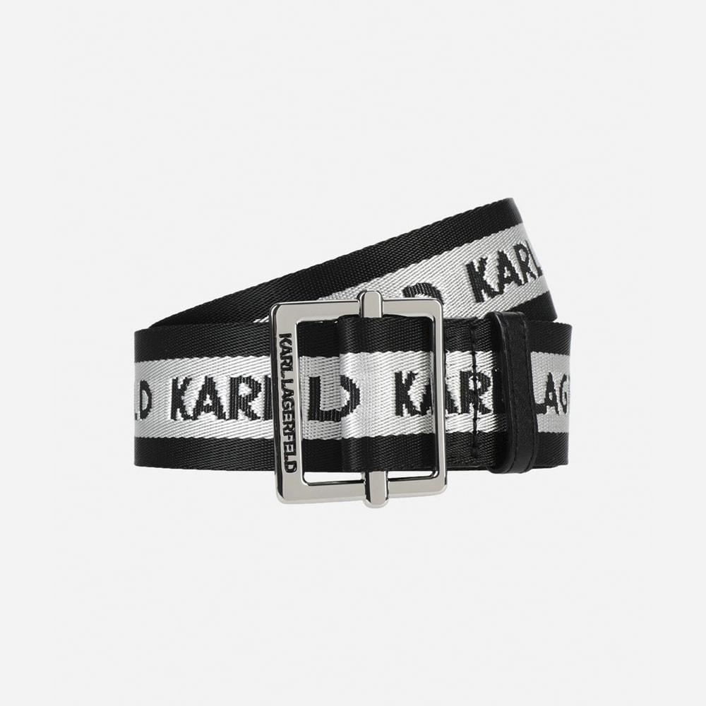 Cinturón logos Karl Lagerfeld 91KW3191 Negro