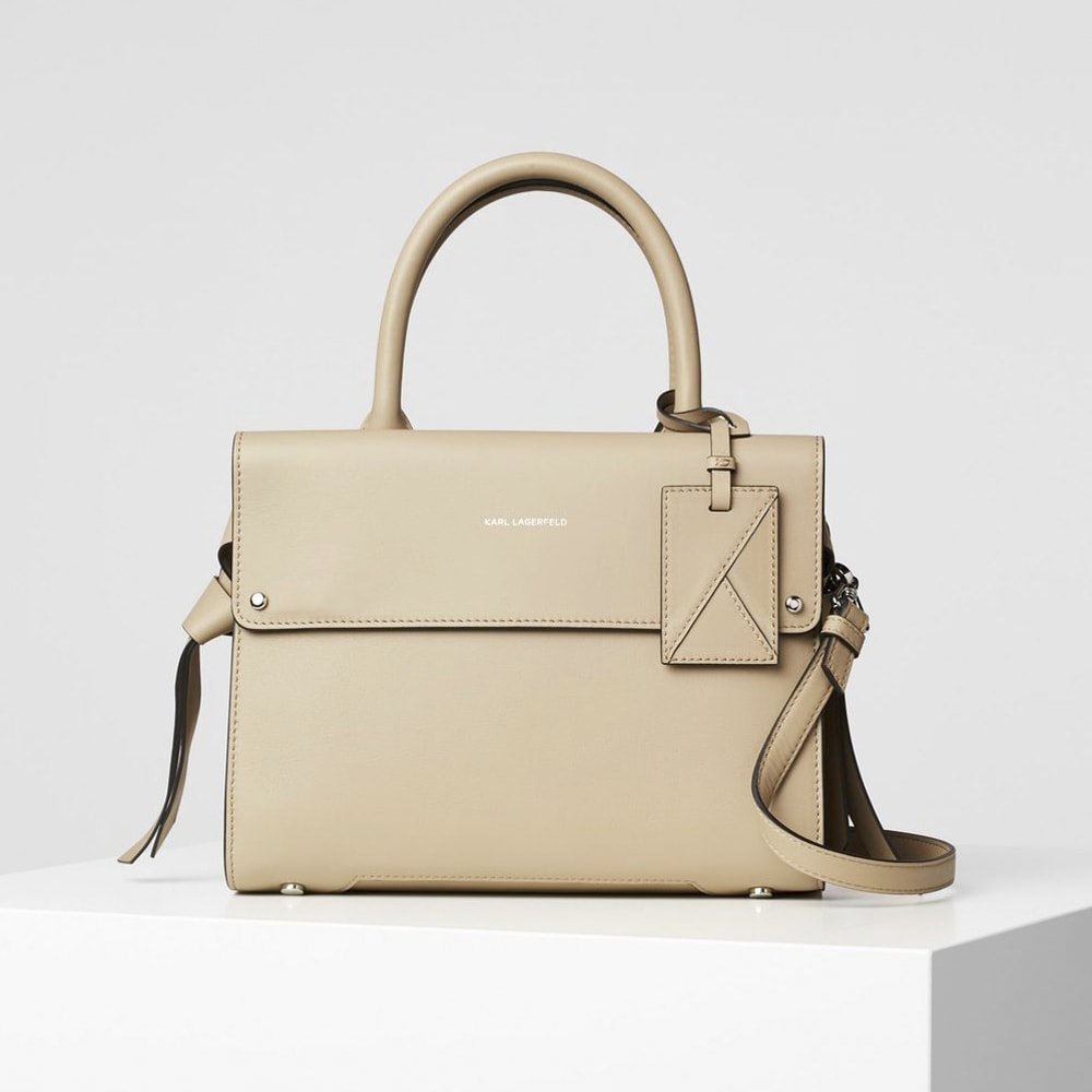 Bolso mano asa Karl Lagerfeld 96KW3249 Taupe