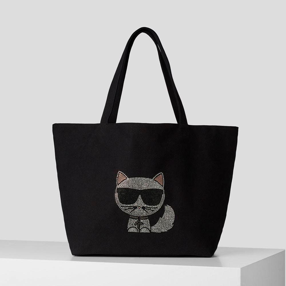 Bolso lona Choupette strass Karl Lagerfeld 216W3902