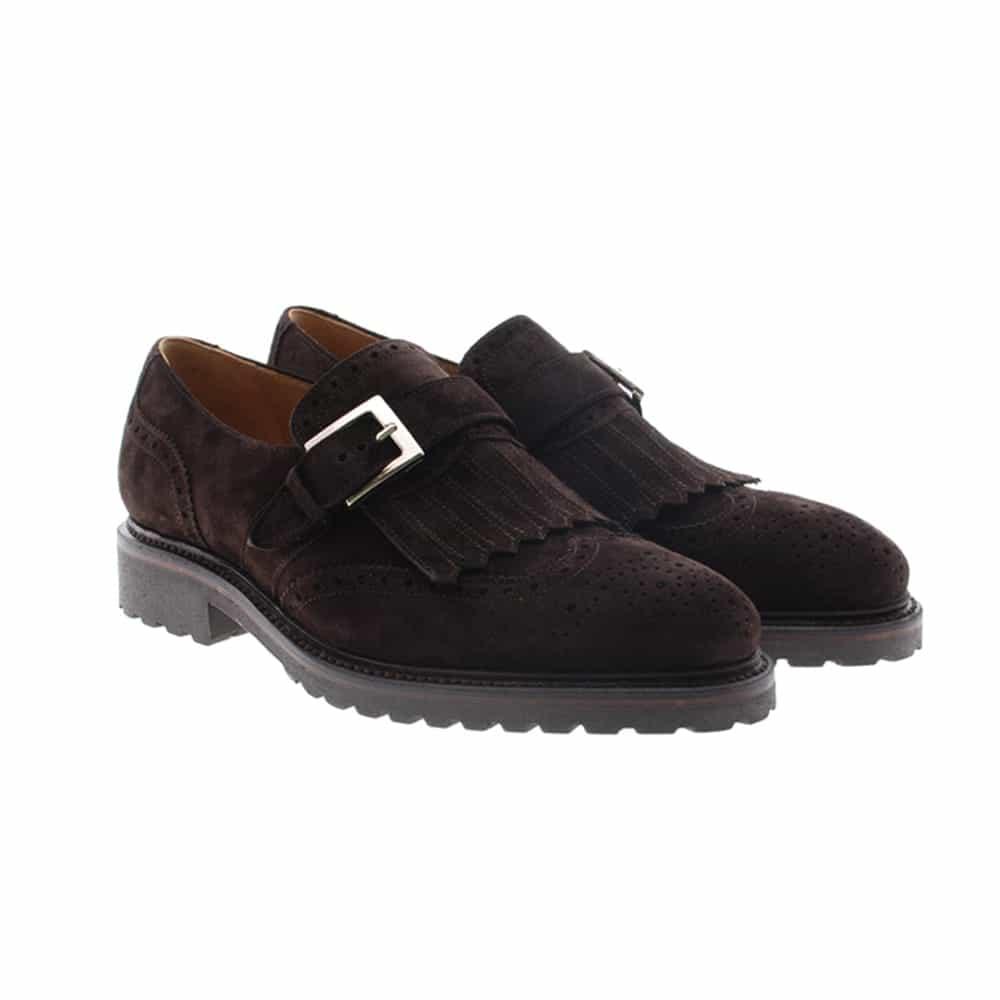 Zapato marrón flecos y hebilla Cordwainer 17062
