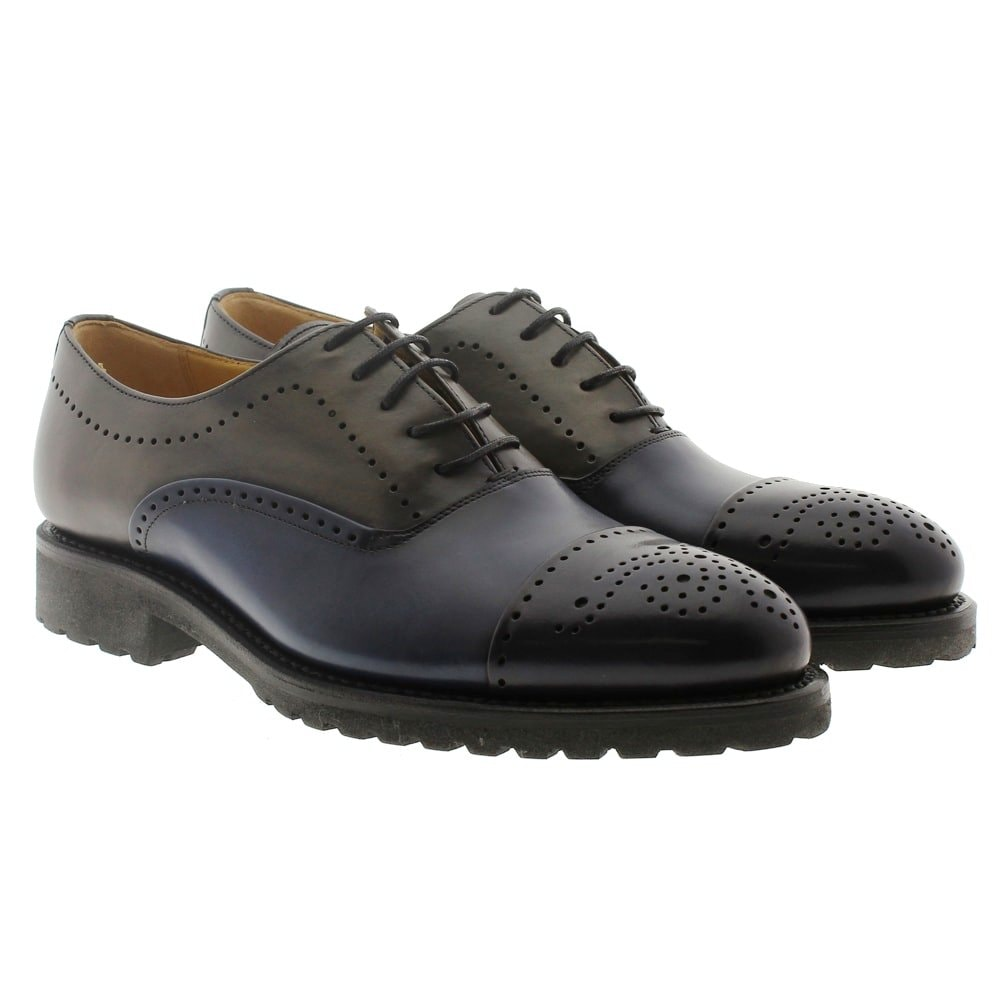Zapato Oxford azul Cordwainer 17551