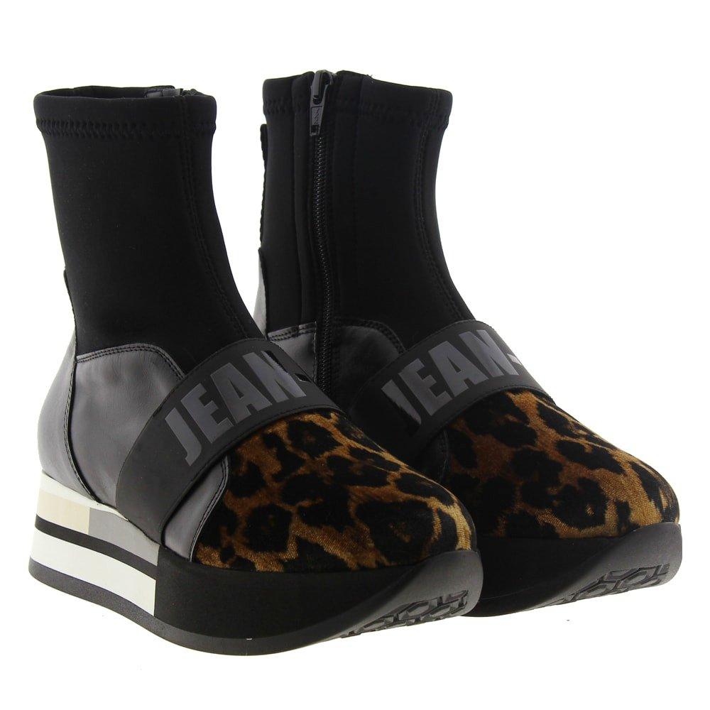 Bota calcetín leopardo plataforma Jeannot 78401