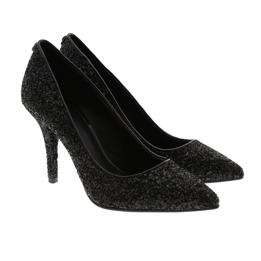 Stiletto glitter negro Michael Kors MK-Flex Hight Pump