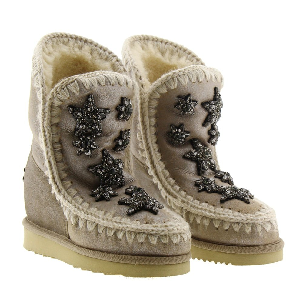 Botas polares cuña estrellas Mou Wedge Short Cry